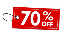 Special Offer 70% Off Label Or Price Tag