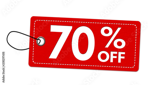 Fotografie, Obraz Special offer 70% off label or price tag