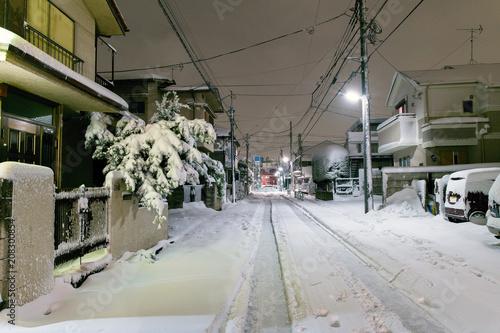 東京大雪2018
