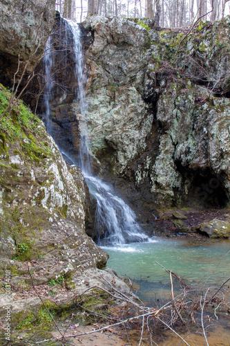 Fototapeten Forest river Small Falls 2