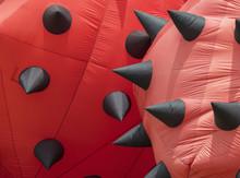 Detail Of Red Stationary Kites