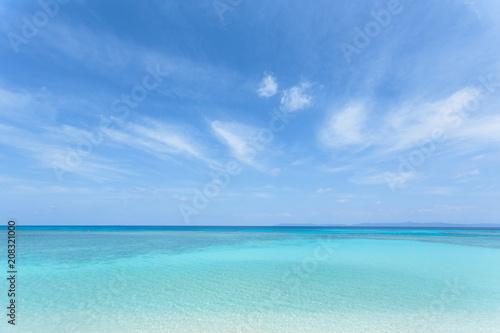Poster Mer / Ocean 日本最南端、沖縄の波照間島、ニシ浜