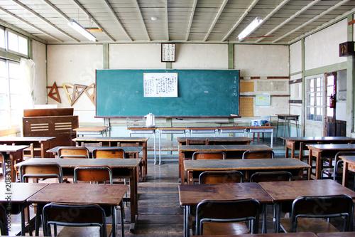 Fotografie, Obraz  古い教室