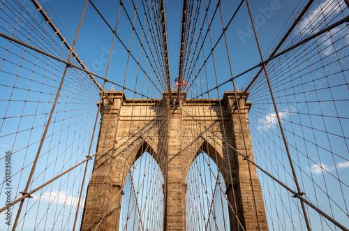 Tuinposter Brooklyn Bridge Brooklyn Bridge, New York