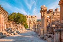 Celsus Library In Ephesus, Tur...