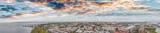 Aerial panoramic sunset view of Charleston, South Carolina - 208342424
