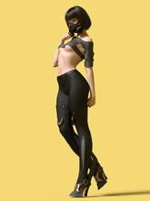 3D Illustration Mask Sci-fi Girl