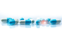 Blue And White Capsules Pill S...