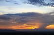 Beautiful sky at twilight time