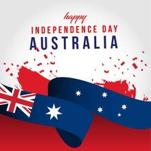 Happy Australia Independent Day Vector Template Design Illustration