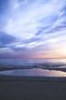 Romantischer Sonnenuntergang am Meer