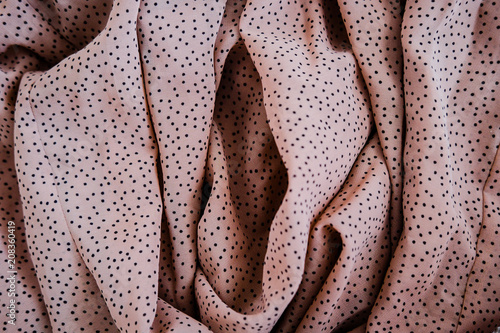 Fotografie, Obraz  Creative art photography made of fabric in nude pink color