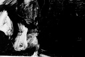 black and white texture, background, rough brush