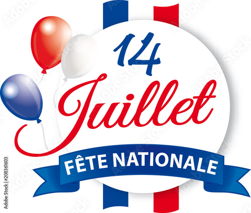 Valokuva  14 JUILLET FETE NATIONALE BANDEROLE