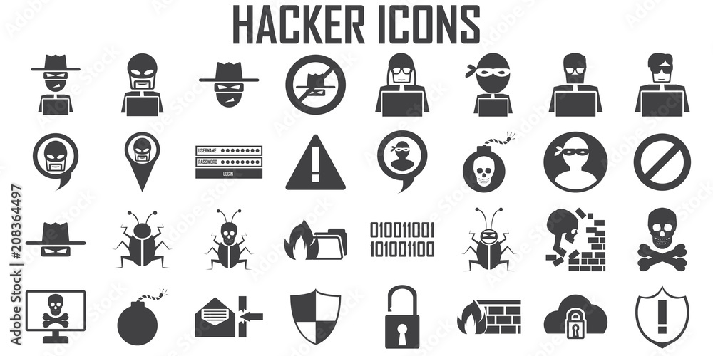 Fototapeta hacker icon cyber spy vector.