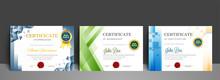 Appriciation Certificate Best Award Diploma Set.