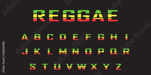 Fotomural reggae  color font
