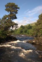 The Falls Of Dochart At Killin Looking Upriver
