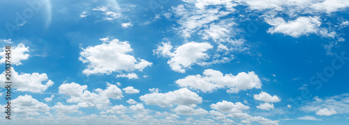 Ciel panorama clear blue sky background,clouds with background.