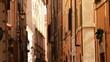 Romantyczna dostojna elegancka przepiękna uliczka w Rzymie