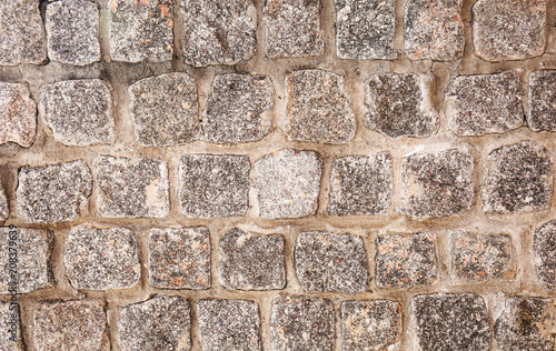 In de dag Stenen Texture of stone pavement as background