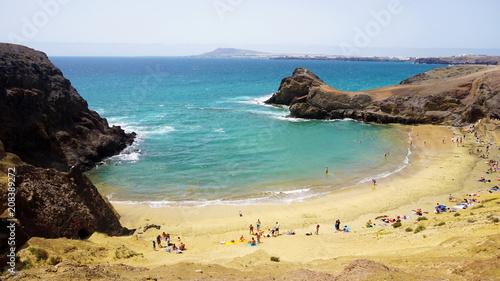 Deurstickers Canarische Eilanden Amazing view of Playa Papagayo beach, Lanzarote, Canary Islands