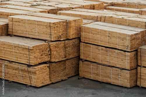 Obraz na plátně  Timber in stock