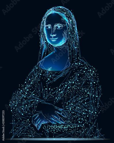 Photo Stylized Painting Mona Lisa