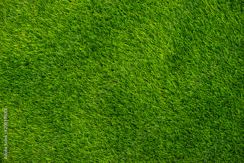 Fotografie, Obraz  Background green grass top view. Artificial grass or lawn.
