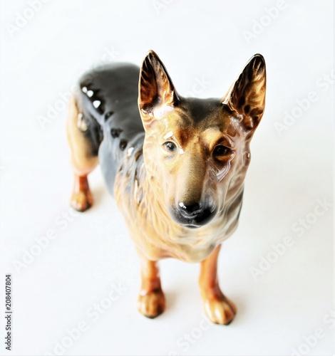 Foto  Skulptur - Deutscher Schäferhund - Porzellan