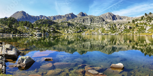 Lake in Collada de Pessons, Andorra. Wallpaper Mural