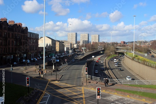 Fotografía The M8 passing through Glasgow city centre.