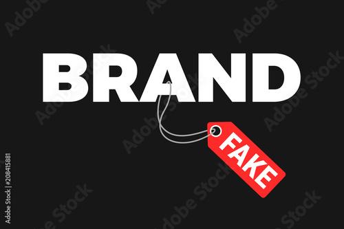 Fotografija  Fake and counterfeit copy is labeled as original brand