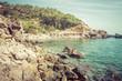 Island scenery, seascape Ibiza Spain, beautiful panorama of Mediterranean Sea coastline