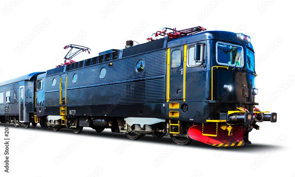 Fotografía  Modern high speed train isolated on white