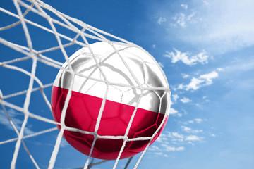 Obraz Fussball mit polnischer Flagge