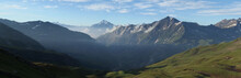 Alpy, Francja, Tour Du Mont Blanc - Panorama Z Przełęczy Col De La Croix Du Bonhomme