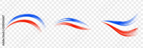 Obraz Abstract brush France flag - Transparent brush France flag. Set France flag. - fototapety do salonu
