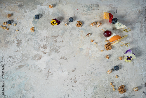food on a wooden background