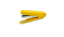 Yellow Stapler Isolated On A White Background