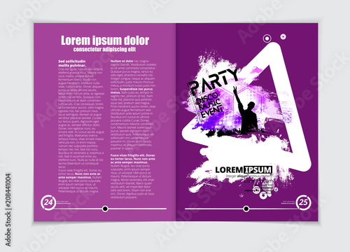 Music Brochure Layout Buy This Stock Vector And Explore Similar