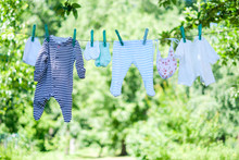Baby Clothes On Clothesline Dr...