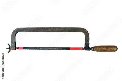 Fotografie, Obraz  Hacksaw for metal with a wooden handle