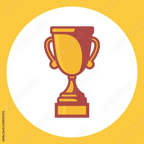 Fototapety, obrazy: Trophy vector icon