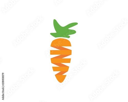 carrot ilustration logo vector Tapéta, Fotótapéta