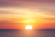 Big Sun And Sea Sunset