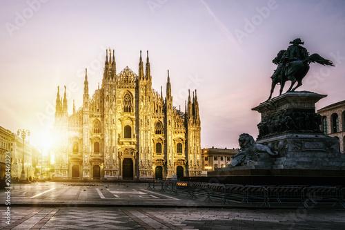 Garden Poster Milan Duomo di Milano (Milan Cathedral) in Milan, Italy