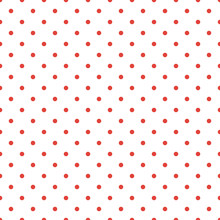 Red Polka Dot Seamless Pattern...