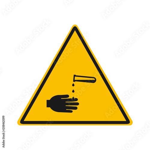 Fotografie, Obraz  irritant acid warning vector sing