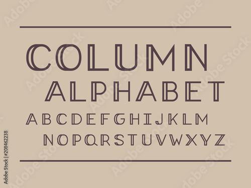 kolumna-zwykla-alfabet-wektorowy